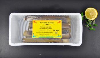 Frozen Razor Clams 1kg Plastic Tray