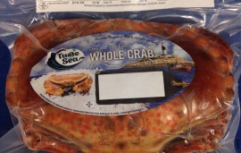 cooked crab whole